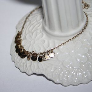 Beautiful gold anklet or bracelet 7-9 inches charm